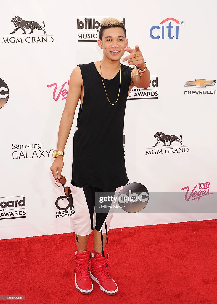 Actor/singer Roshon Fegan arrives at the 2014 Billboard Music Awards at the MGM Grand Garden Arena on May 18 2014 in Las Vegas Nevada