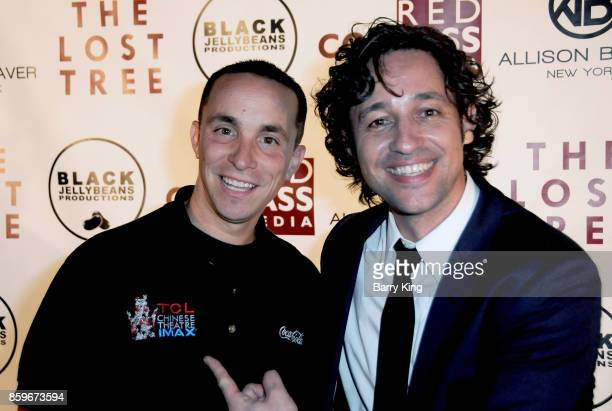 Actor/singer Thomas Ian Nicholas and guest attend 'The Lost Tree' screening at TCL Chinese 6 Theatres on October 9 2017 in Hollywood California