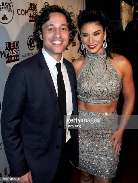 Actor/singer Thomas Ian Nicholas and speed skater Allison Baver attend 'The Lost Tree' screening at TCL Chinese 6 Theatres on October 9 2017 in...