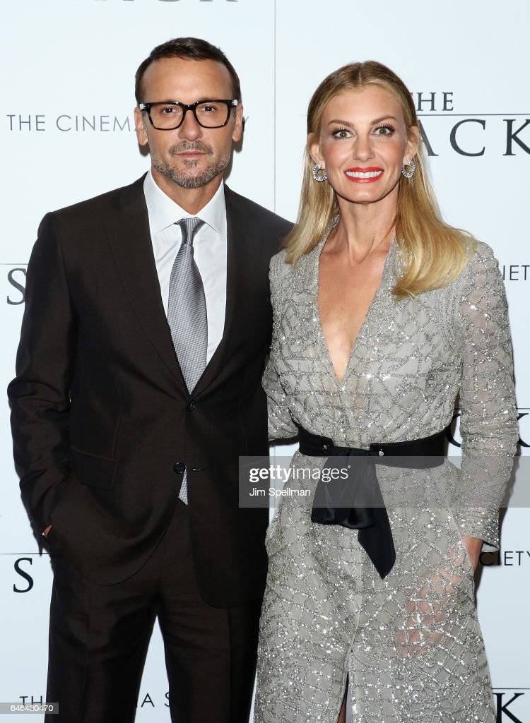 Actor/singer Tim McGraw and singer/songwriter Faith Hill attends the world premiere of 'The Shack' hosted by Lionsgate at Museum of Modern Art on February 28, 2017 in New York City.