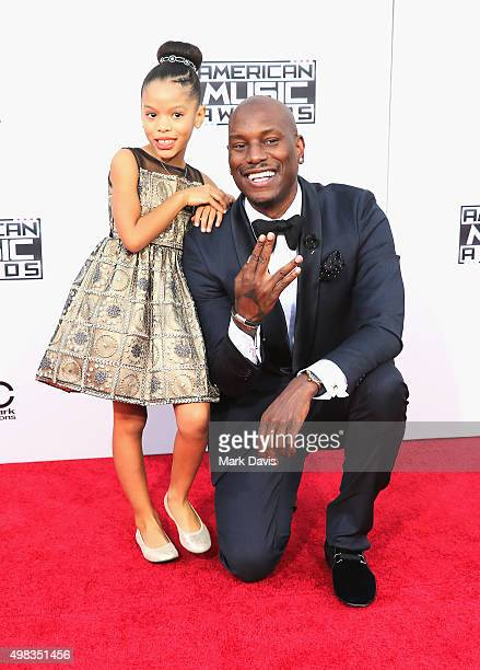 Actor/singer Tyrese Gibson and Shayla Somer Gibson attend the 2015 American Music Awards at Microsoft Theater on November 22 2015 in Los Angeles...