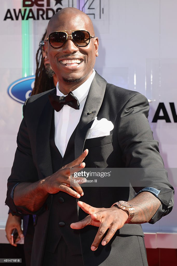 Actor/singer <a gi-track='captionPersonalityLinkClicked' href=/galleries/search?phrase=Tyrese&family=editorial&specificpeople=206177 ng-click='$event.stopPropagation()'>Tyrese</a> Gibson attends the BET AWARDS '14 at Nokia Theatre L.A. LIVE on June 29, 2014 in Los Angeles, California.