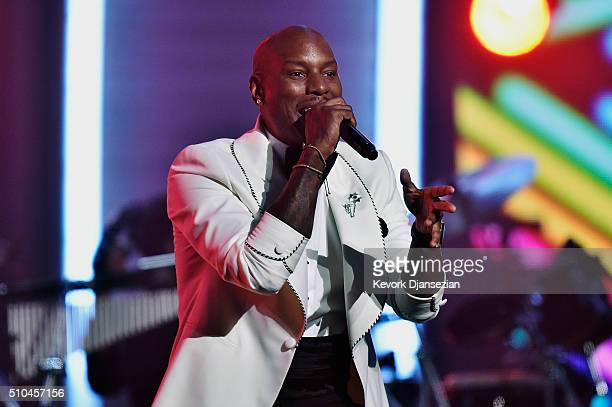 Actor/singer Tyrese Gibson performs onstage during The 58th GRAMMY Awards at Staples Center on February 15 2016 in Los Angeles California