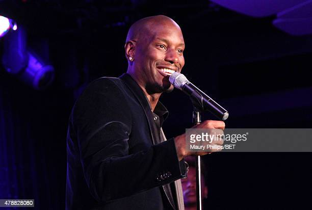 Actor/singer Tyrese Gibson speaks onstage during the 2015 Community Impact Awards presented by Dennys during the 2015 BET Experience at the Conga...
