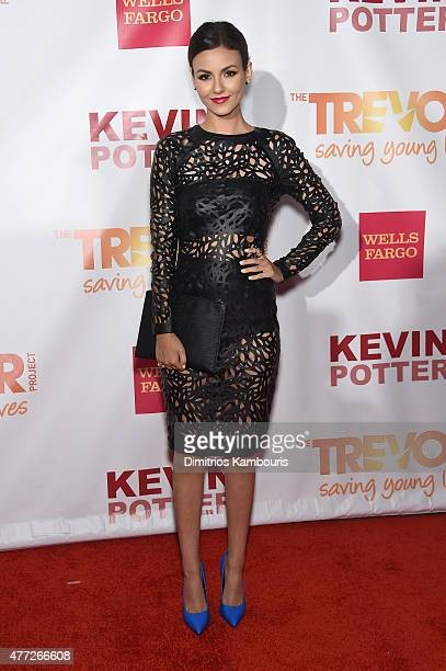 Actor/Singer Victoria Justice attends TrevorLIVE New York honoring Sir Ian McKellen Representative Ryan Fecteau and Johnson Johnson for the Trevor...