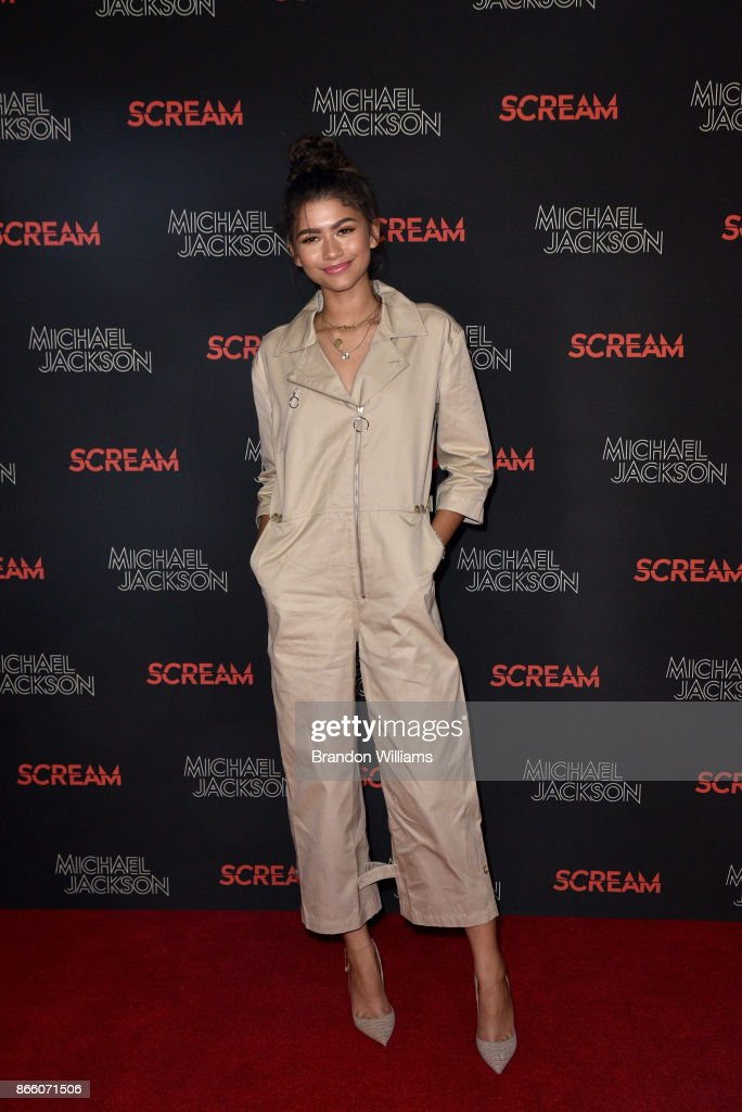 Actor/singer Zendaya attends SCREAM presented by the estate of Michael Jackson and Sony Music Publishing at TCL Chinese 6 Theatres on October 24, 2017 in Hollywood, California.