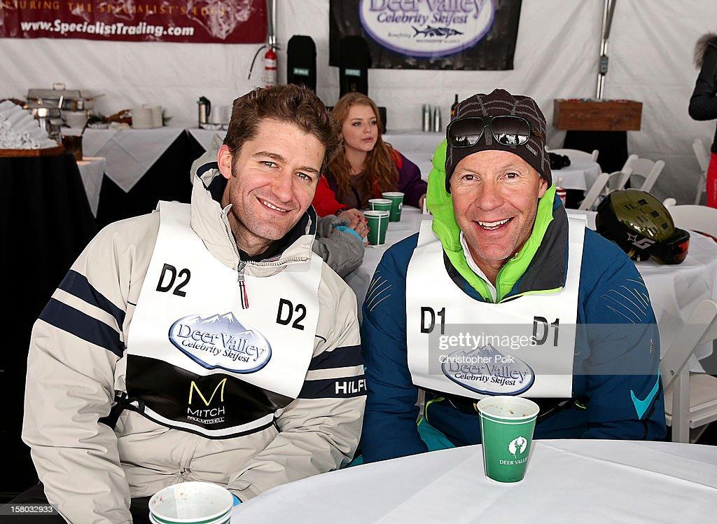Actor/Singer/Songwriter Matthew Morrison and Olympian Tommy Moe attend the Deer Valley Celebrity Skifest at Deer Valley Resort on December 9, 2012 in Park City, Utah.