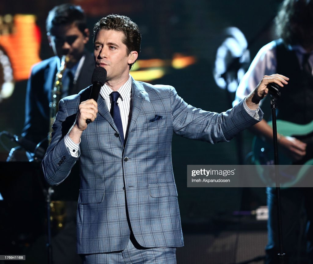 Actor/singersongwriter Matthew Morrison performs at the 2013 MDA Show Of Strength at CBS Studios on July 31 2013 in Los Angeles California