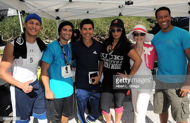 Actors/martial artists Najee DeTiegeHector David Jr of 'Power Ragers Samurai' NBC sportscaster Mario Solis actress Alice Amter attorney Vicki Robert...