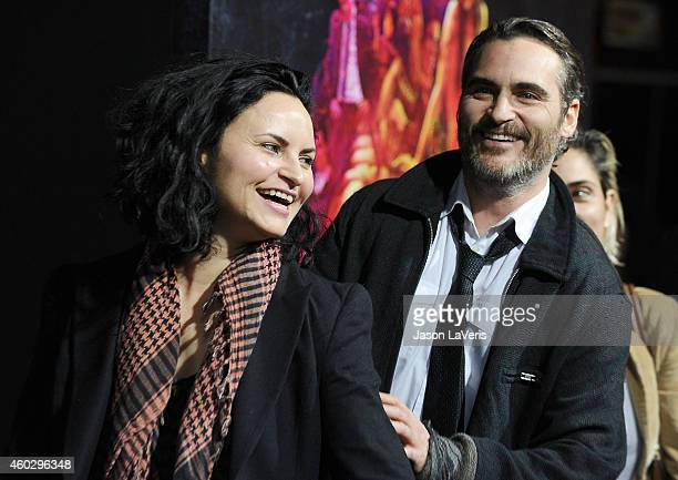 Actors/siblings Rain Phoenix and Joaquin Phoenix attend the premiere of 'Inherent Vice' at TCL Chinese Theatre on December 10 2014 in Hollywood...