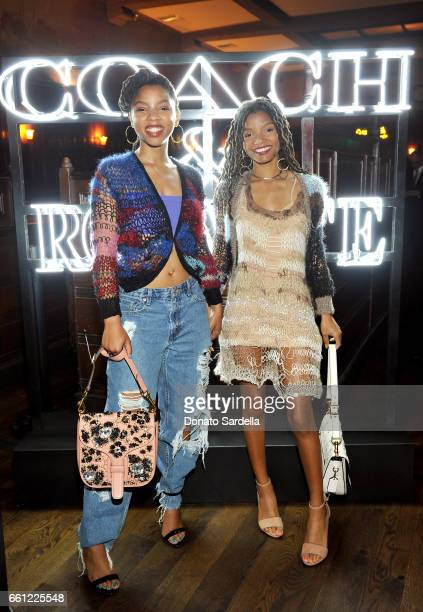 Actors/singers Chloe Bailey and Halle Bailey attend the Coach Rodarte celebration for their Spring 2017 Collaboration at Musso Frank on March 30 2017...