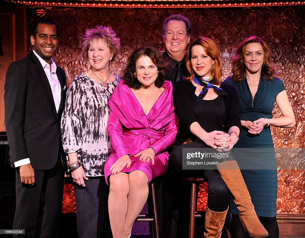 Actors/singers Daniel Breaker, Pamela Myers, Tovah Feldshuh, Eric Michael Gillett, Molly Ringwald, and Andrea Mcardle attend a special press preview at 54 Below on January 15, 2013 in New York City.