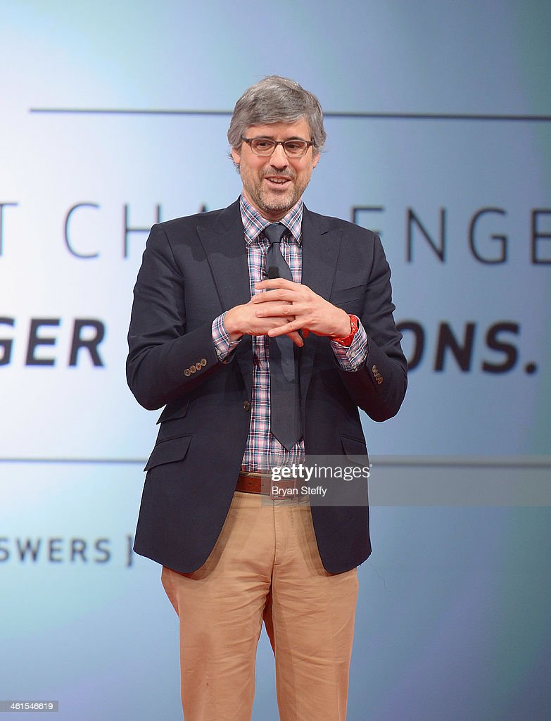 Actor/television radio personality Mo Rocca speaks on stage during the Verizon Powerful Answers Award winners unveiling at the 2014 International CES...