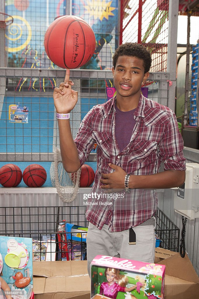 ActorTrevor Jackson attends Mattel Party On The Pier Benefiting Mattel Children's Hospital UCLA - Inside at Pacific Park at Santa Monica Pier on October 21, 2012 in Santa Monica, California.