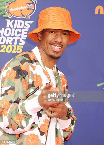 Actor/TV host Nick Cannon arrives at the Nickelodeon Kids' Choice Sports Awards 2015 at UCLA's Pauley Pavilion on July 16 2015 in Westwood California