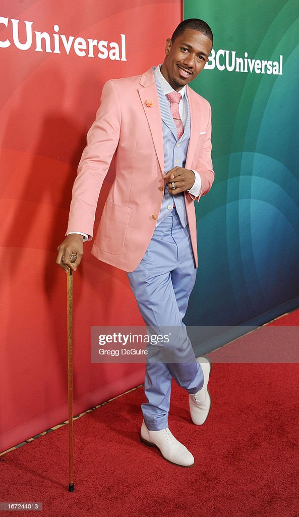 Actor/TV personality Nick Cannon arrives at the 2013 NBC Summer Press Day at The Langham Huntington Hotel and Spa on April 22, 2013 in Pasadena, California.