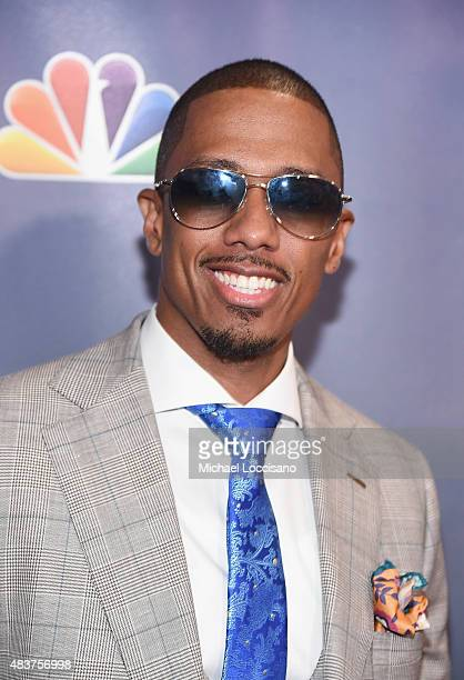 Actor/TV personality Nick Cannonl attends the 'America's Got Talent' season 10 taping at Radio City Music Hall at Radio City Music Hall on August 12...