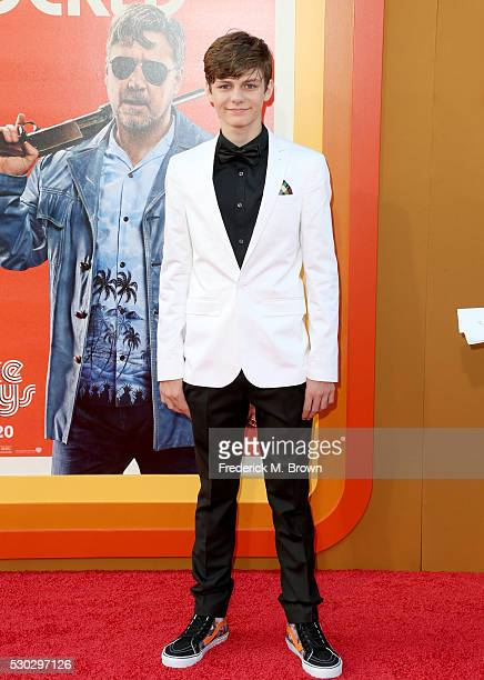 ActorTy Simpkins attends the premiere of Warner Bros Pictures' 'The Nice Guys' at TCL Chinese Theatre on May 10 2016 in Hollywood California