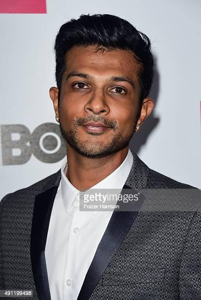 ActorUtkarsh Ambudkar arrives at the Point Foundation's Voices On Point Gala at the Hyatt Regency Century Plaza on October 3 2015 in Century City...