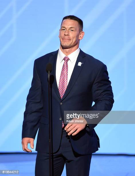 Actor/wrestler John Cena speaks onstage at The 2017 ESPYS at Microsoft Theater on July 12 2017 in Los Angeles California