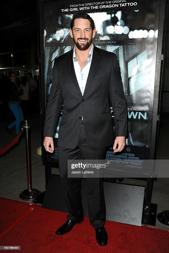 Actor/wrestler Wade Barrett attends the premiere of 'Dead Man Down' at ArcLight Cinemas on February 26, 2013 in Hollywood, California.