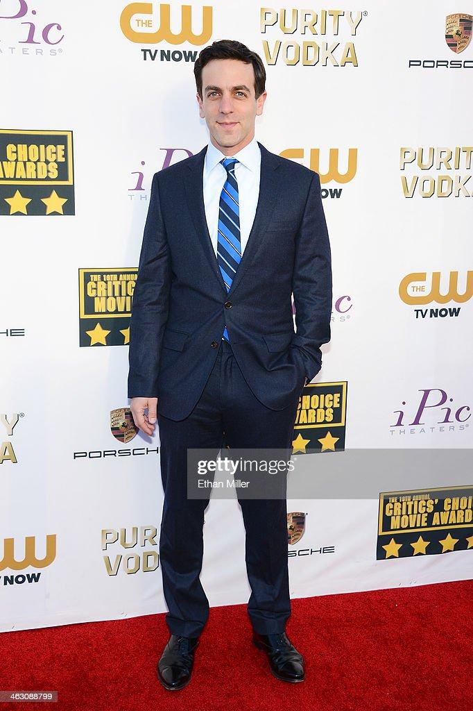 Actor/writer B.J. Novak attends the 19th Annual Critics' Choice Movie Awards at Barker Hangar on January 16, 2014 in Santa Monica, California.