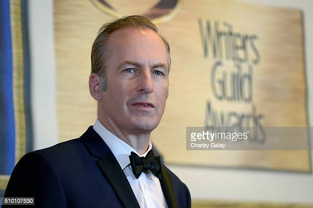Actor/writer Bob Odenkirk poses in the Press Room during the 2016 Writers Guild Awards at the Hyatt Regency Century Plaza on February 13 2016 in Los...