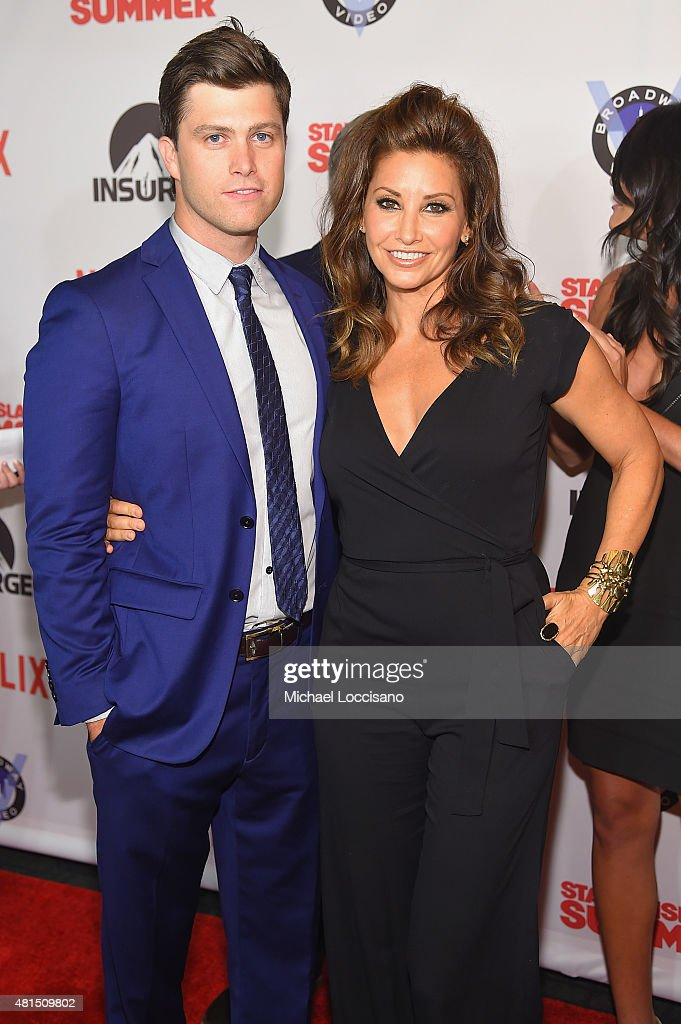Actor/writer Colin Jost and Actress Gina Gershon attend the 'Staten Island Summer' New York Premiere at Sunshine Landmark on July 21, 2015 in New York City.