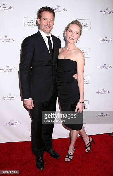 Actor/writer James Tupper and actress Anne Heche arrive at Hallmark Hall of Fame's 'One Christmas Eve' Premiere Event at Fig Olive Melrose Place on...