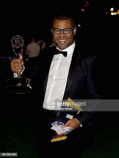Actor/writer Jordan Peele winner of Outstanding Variety Sketch Series for 'Key Peele' attends the 68th Annual Primetime Emmy Awards Governors Ball at...