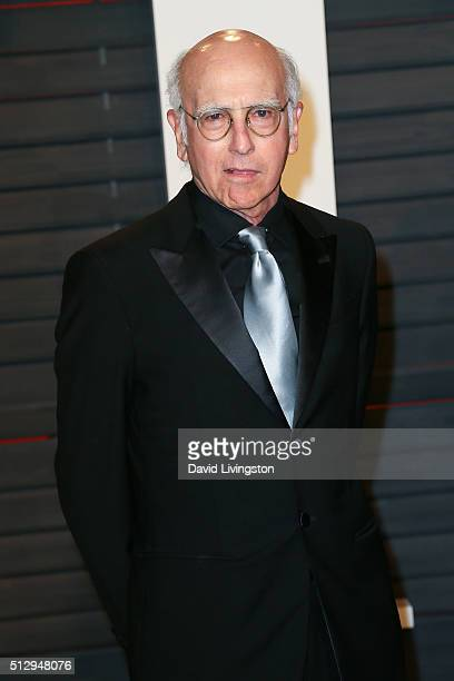 Actor/writer Larry David arrives at the 2016 Vanity Fair Oscar Party Hosted by Graydon Carter at the Wallis Annenberg Center for the Performing Arts...