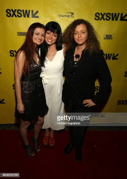 Actor/writer Leah McKendrick director Natalia Leite and producer Dahlia Heyman attend the premiere of 'MFA' during 2017 SXSW Conference and Festivals...