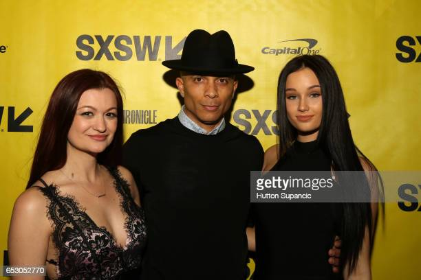 Actor/writer Leah McKendrick producer Kelvin Parker and actor Melanie Britton attend the premiere of 'MFA' during 2017 SXSW Conference and Festivals...