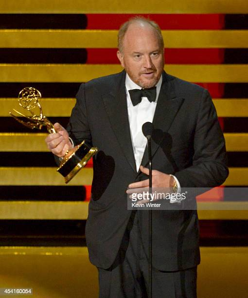 Actor/writer Louis CK accepts Outstanding Writing for a Comedy Series for the 'Louie' episode 'So Did the Fat Lady' onstage at the 66th Annual...