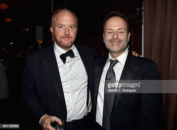 Actor/writer Louis CK and John Landgraf CEO of FX Networks and FX Production attend the FOX 20th Century FOX Television FX Networks and National...