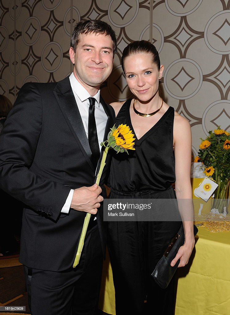 Actor/writer Mark Duplass and actress Katie Aselton attend the 2013 Writers Guild Awards Backstage Creations Celebrity Retreat on February 17, 2013 in Los Angeles, California.