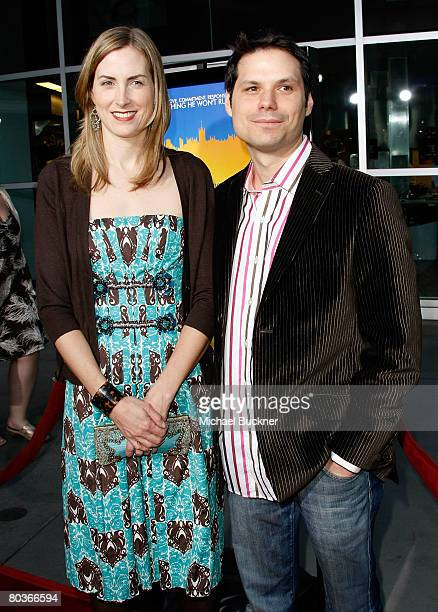 Actor/writer Michael Ian Black and his wife Martha Hagen arrive at the premiere of Picturehouse's 'Run Fat Boy Run' held at the Arclight Theatres on...