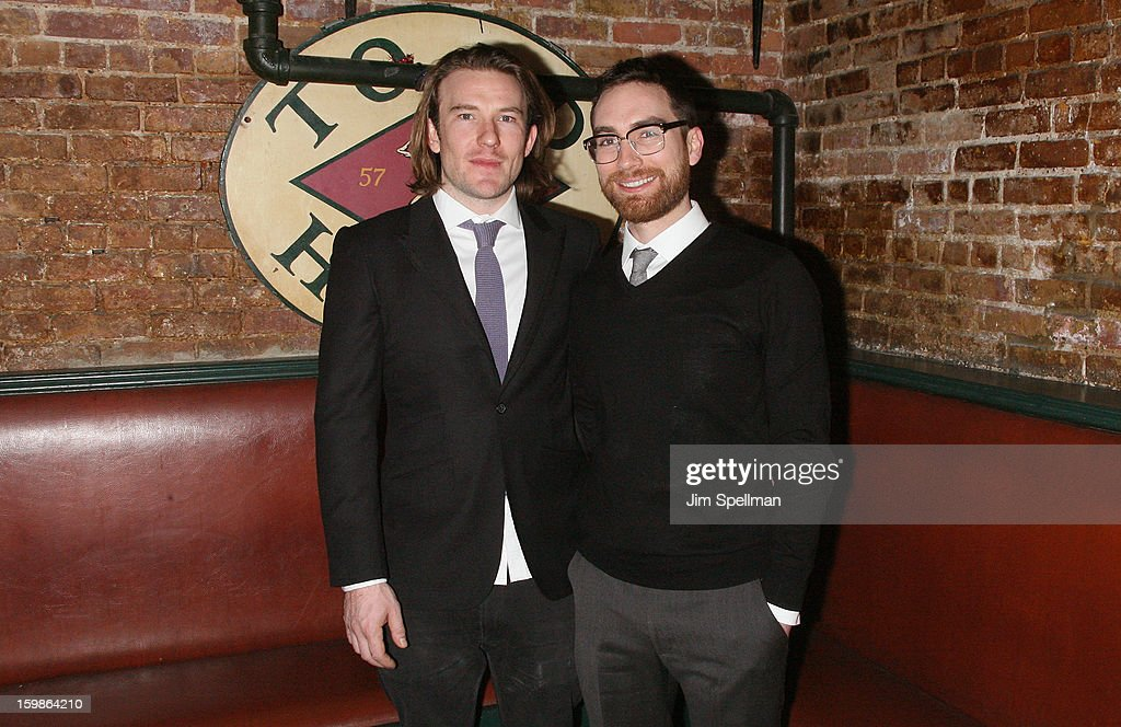 Actor/writer Michael Rabe and director Jay Stull attends the after party for the opening night of 'The Future Is Not What It Was' at Toad Hall on January 21, 2013 in New York City.