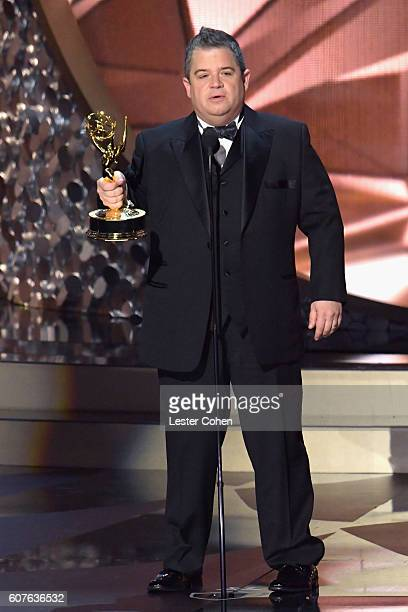 Actor/writer Patton Oswalt accepts the Outstanding Writing for a Variety Special award for 'Patton Oswalt Talking for Clapping' onstage during the...