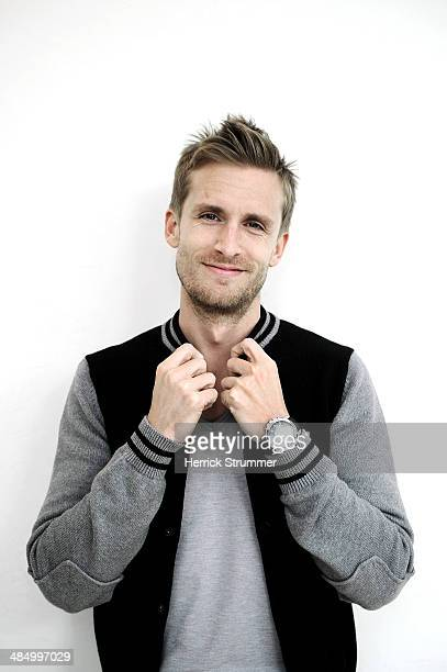 Actor/Writer Philippe Lacheau attends a portrait session for the movie Babysitting on March 29 2014 in Montpellier France
