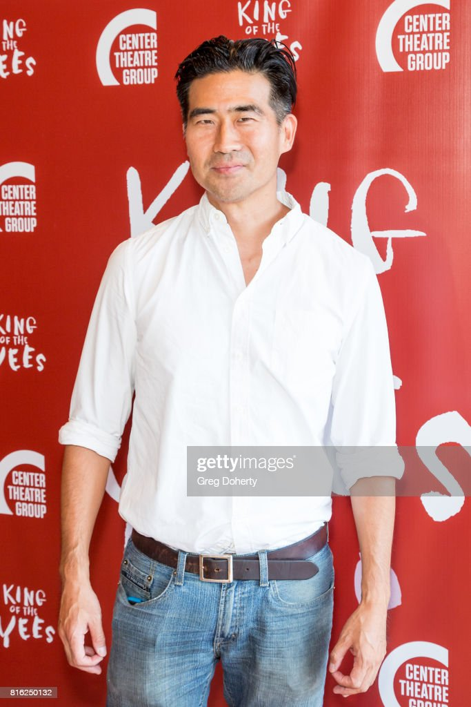 Actor/writer Ryun Yu attends the Opening Night Of 'King Of The Yees' at the Kirk Douglas Theatre on July 16, 2017 in Culver City, California.