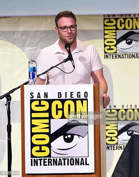 Actor/writer Seth Rogen attends AMC's 'Preacher' panel during ComicCon international at San Diego Convention Center on July 22 2016 in San Diego...