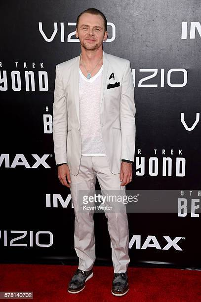 Actor/writer Simon Pegg attends the premiere of Paramount Pictures' 'Star Trek Beyond' at Embarcadero Marina Park South on July 20 2016 in San Diego...
