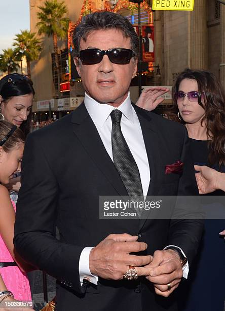 Actor/writer Sylvester Stallone arrives at 'The Expendables 2' Los Angeles Premiere at Grauman's Chinese Theatre on August 15 2012 in Hollywood...