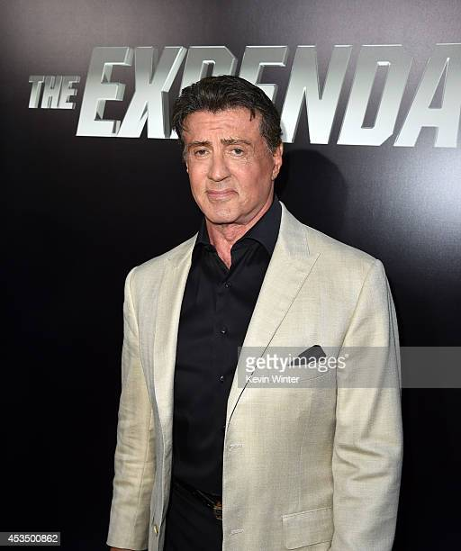 Actor/writer Sylvester Stallone attends the premiere of Lionsgate Films' 'The Expendables 3' at TCL Chinese Theatre on August 11 2014 in Hollywood...