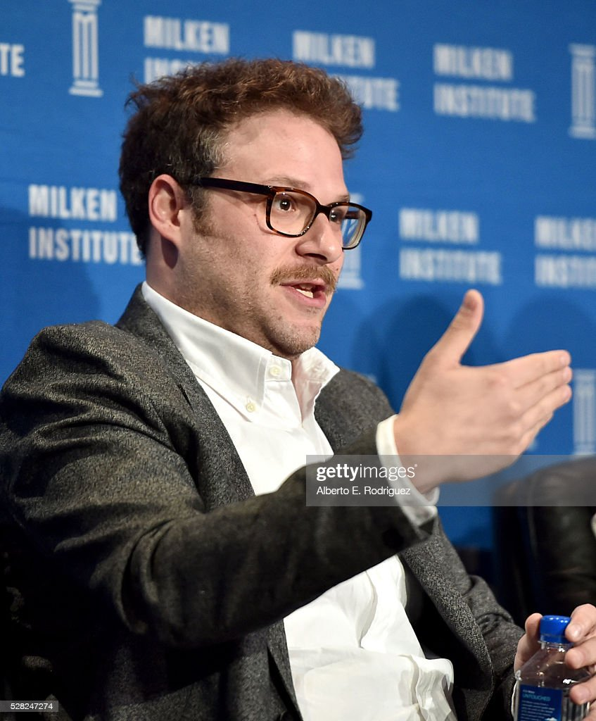 Actor/writer/co-founder Hilarity for Charity <a gi-track='captionPersonalityLinkClicked' href=/galleries/search?phrase=Seth+Rogen&family=editorial&specificpeople=3733304 ng-click='$event.stopPropagation()'>Seth Rogen</a> speaks onstage at the 2016 Milken Institute Global Conference on May 04, 2016 in Beverly Hills, California.