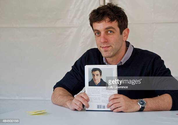 Actor/Writer/Comedian BJ Novak poses with his book at the 19th Annual Los Angeles Times Festival Of Books Day 1 at USC on April 12 2014 in Los...