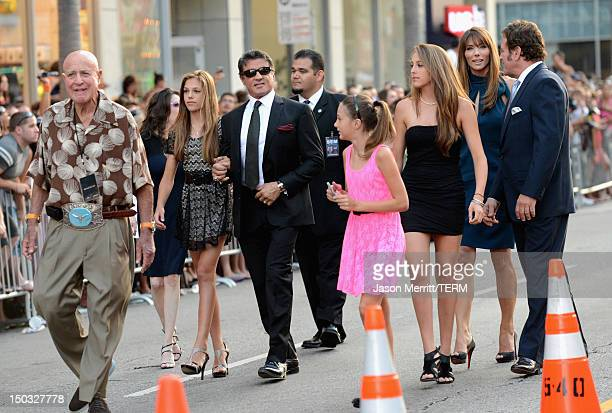 Actor/Writer/Director Sylvester Stallone and family arrive at Lionsgate Films' 'The Expendables 2' premiere on August 15 2012 in Hollywood California