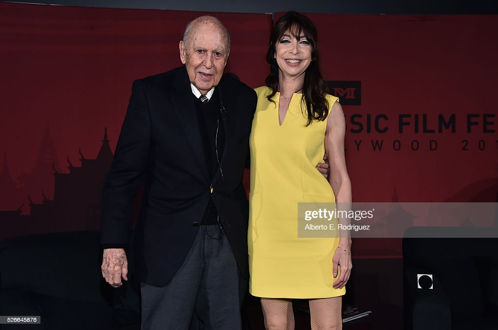Actor/writer/producer Carl Reiner (L) and actress/author Illeana Douglas attend 'An Afternoon with Carl Reiner - Dead Men Don't Wear Plaid' during day 3 of the TCM Classic Film Festival 2016 on April 30, 2016 in Los Angeles, California. 25826_006