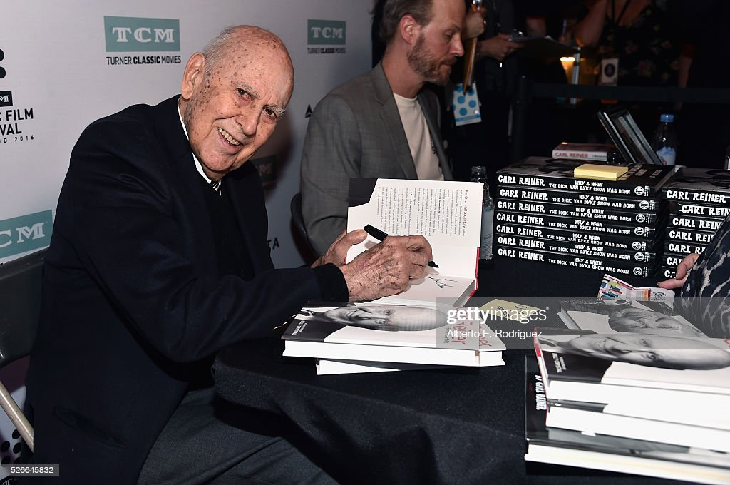 Actor/writer/producer Carl Reiner attends 'An Afternoon with Carl Reiner - Dead Men Don't Wear Plaid' during day 3 of the TCM Classic Film Festival 2016 on April 30, 2016 in Los Angeles, California. 25826_006